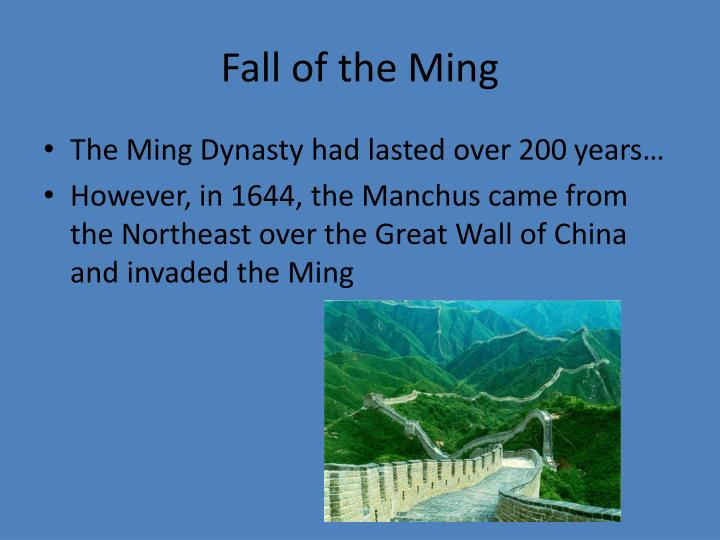 Fall of the Ming