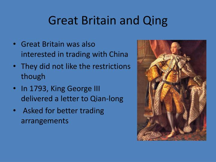 Great Britain and Qing