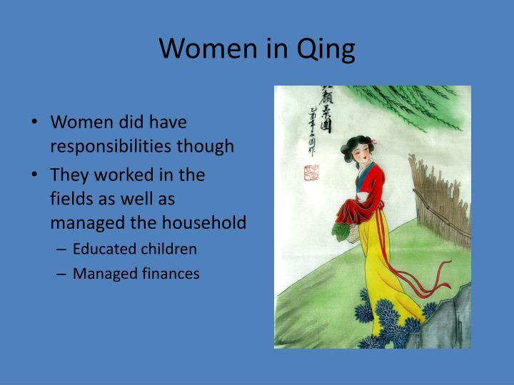 Women in Qing