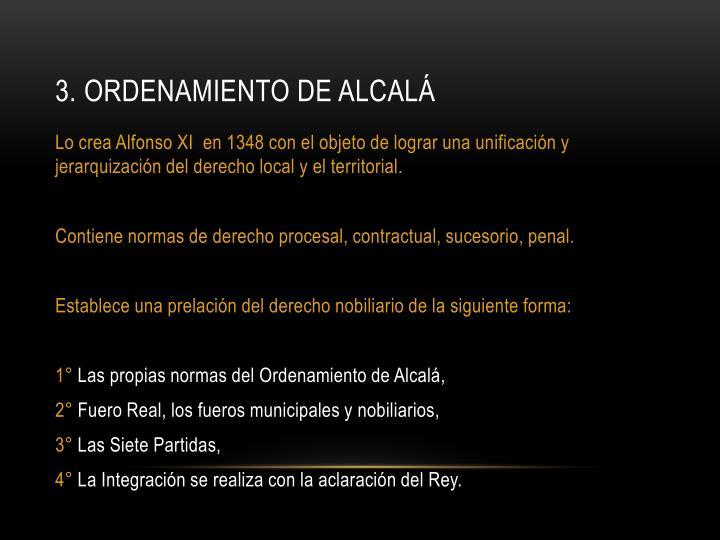 3. Ordenamiento de Alcalá
