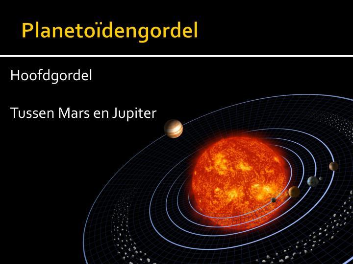 Planetoïdengordel
