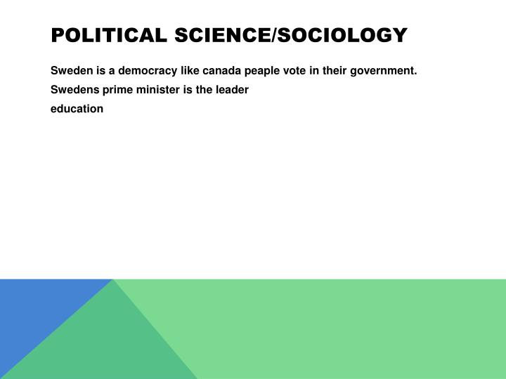 Political science/sociology