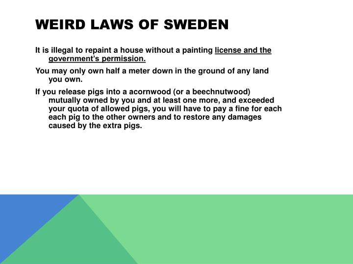 Weird laws of
