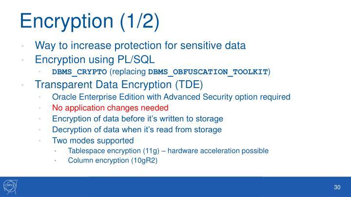 Encryption (1/2)