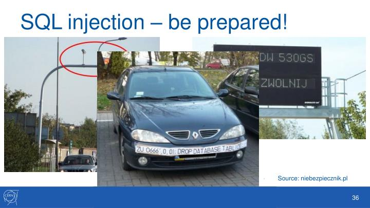 SQL injection – be prepared!