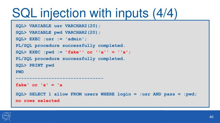 SQL injection with
