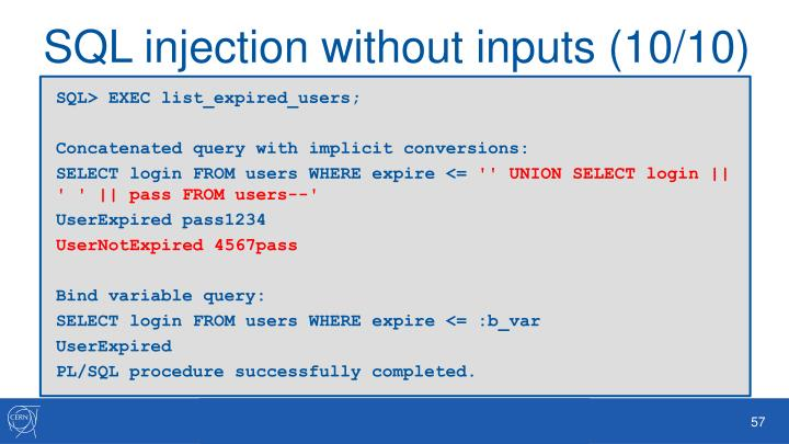 SQL injection without inputs (10/10