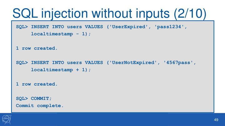 SQL injection without inputs (2/10