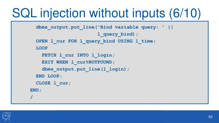 SQL injection without inputs (6/10