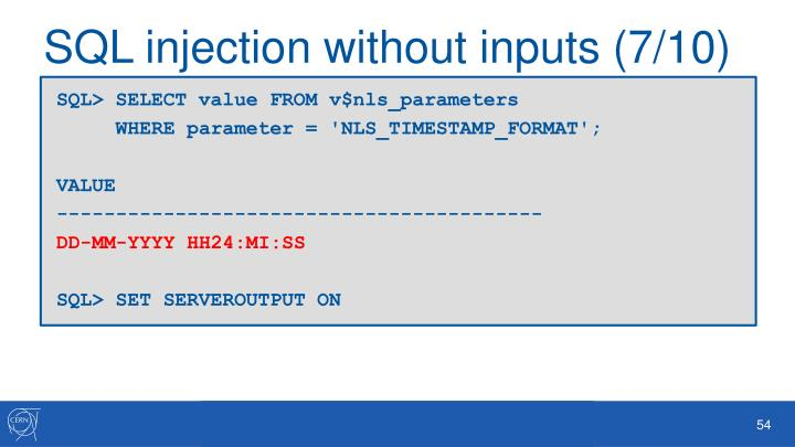 SQL injection without inputs (7/10