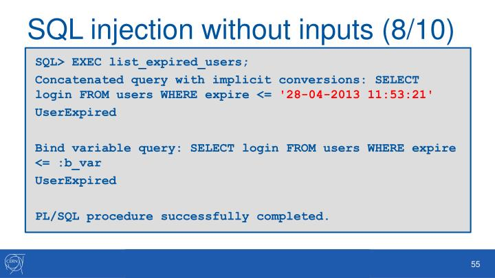 SQL injection without inputs (8/10