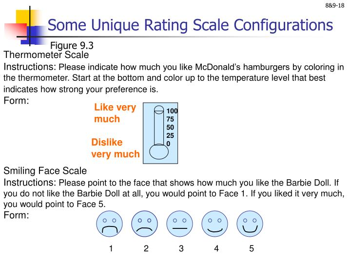 Some Unique Rating Scale Configurations