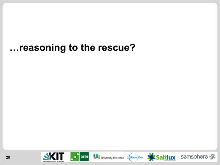 …reasoning to the rescue?