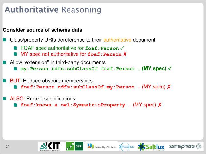 Consider source of schema data