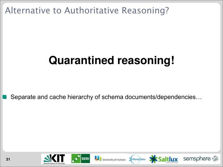 Alternative to Authoritative Reasoning?