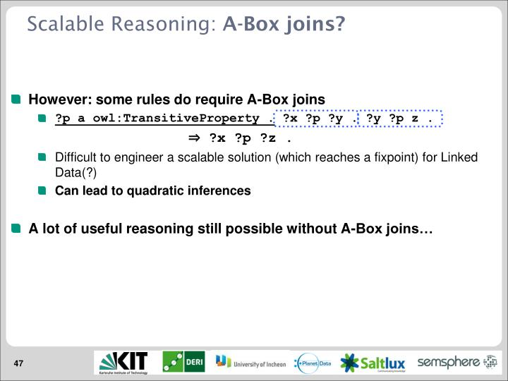 Scalable Reasoning: