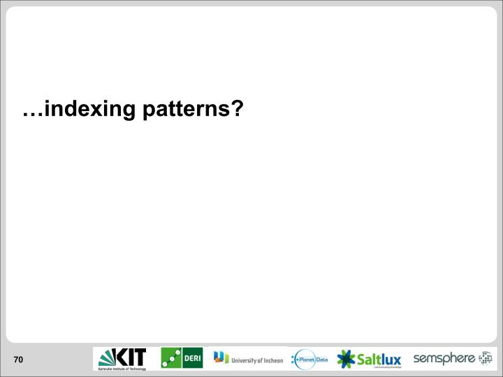 …indexing patterns?