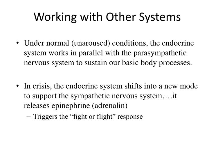 Working with Other Systems