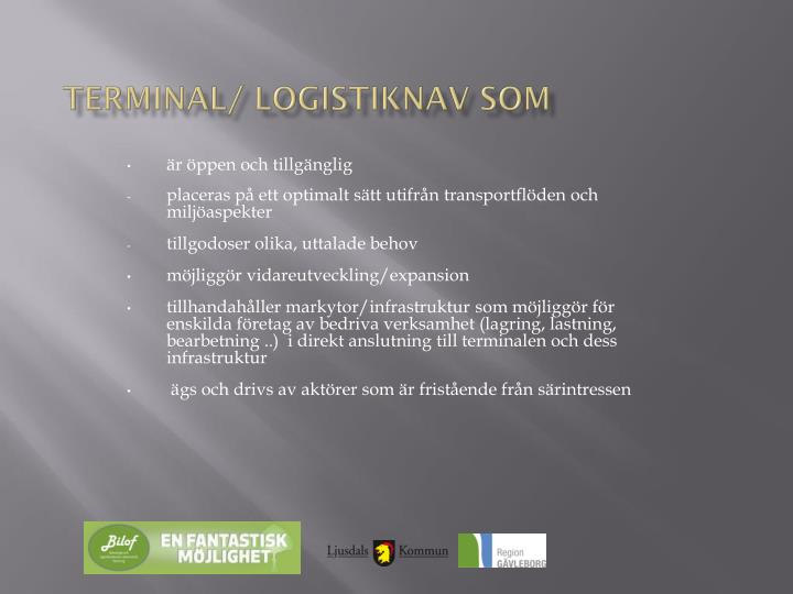 Terminal/ logistiknav som