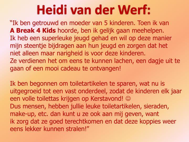 Heidi van der Werf:
