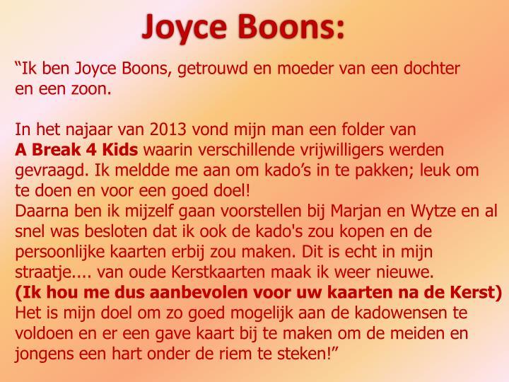 Joyce Boons: