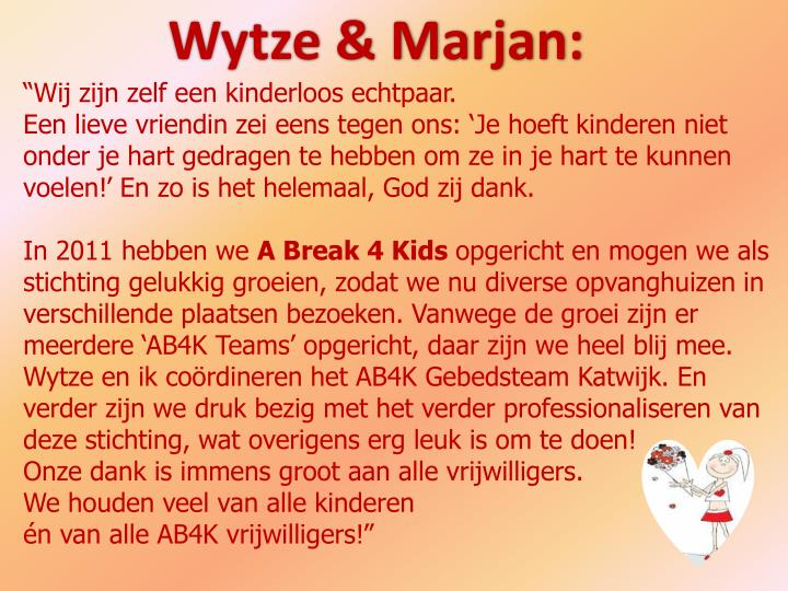 Wytze & Marjan: