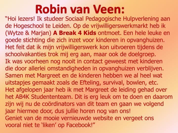 Robin van Veen: