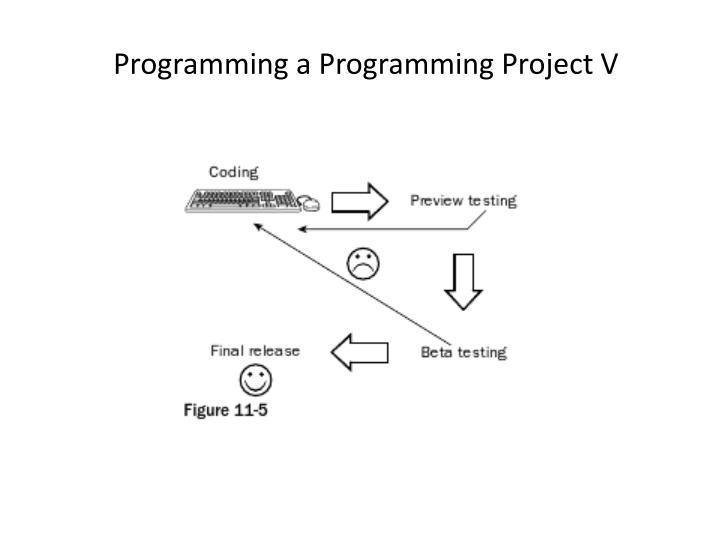 Programming a Programming Project V
