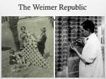 the weimer republic