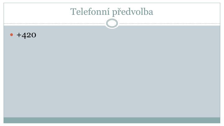 Telefonní předvolba
