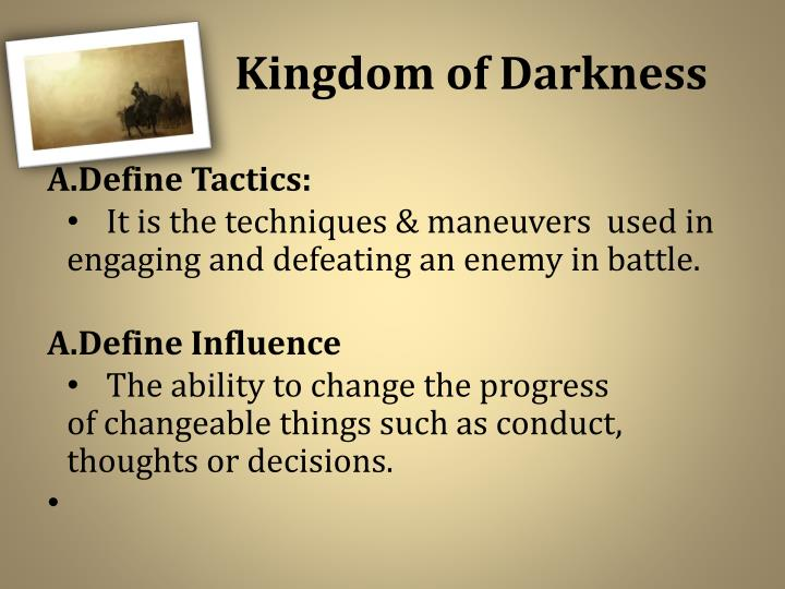 The kingdom of darkness1