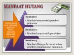 manfaat hutang