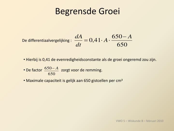 De differentiaalvergelijking :