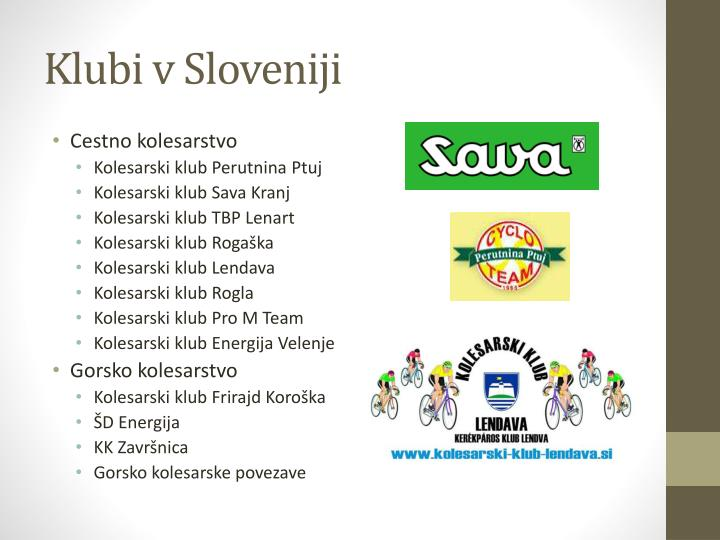 Klubi v Sloveniji