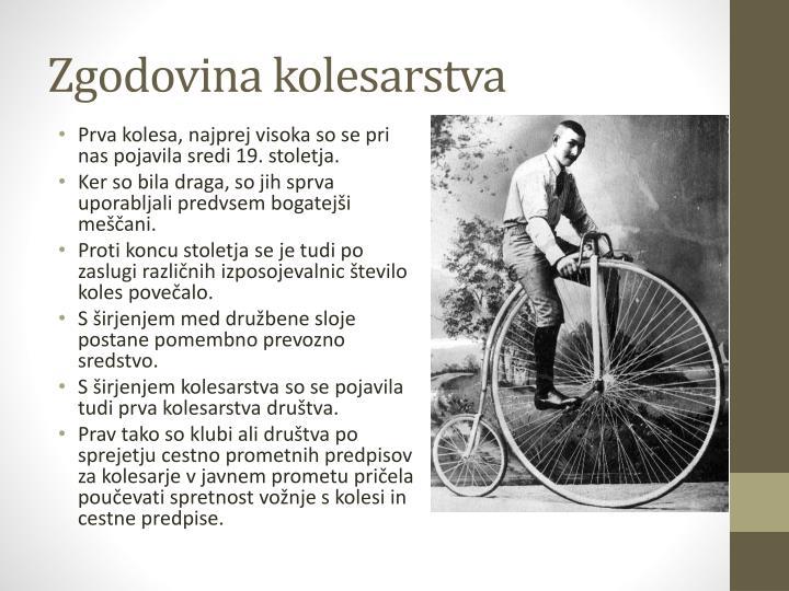 Zgodovina kolesarstva
