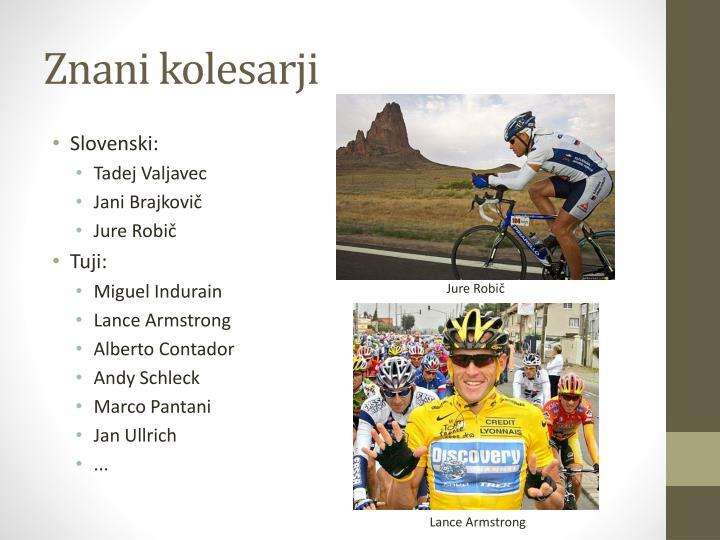 Znani kolesarji