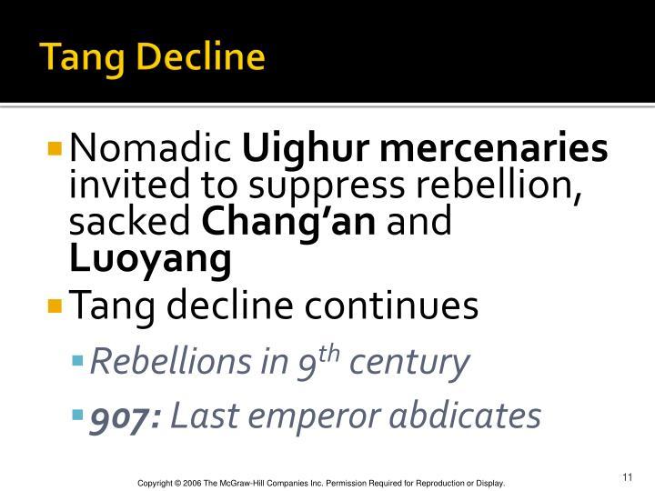 Tang Decline