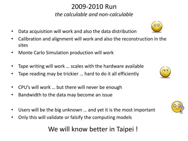 2009-2010 Run