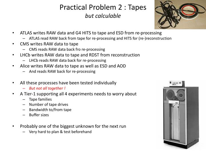 Practical Problem 2 : Tapes