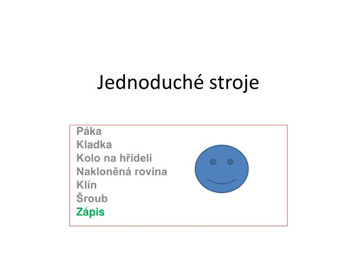 Jednoduch stroje