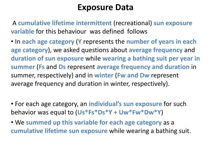 Exposure Data