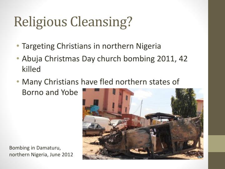 Religious Cleansing?