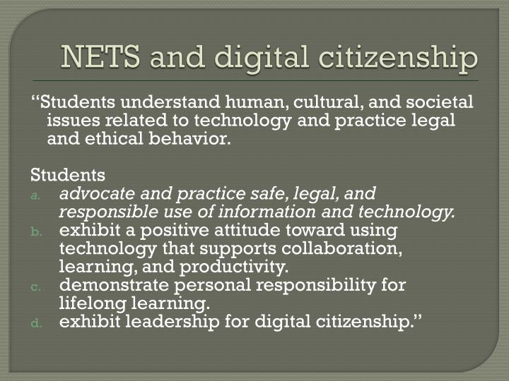 NETS and digital citizenship