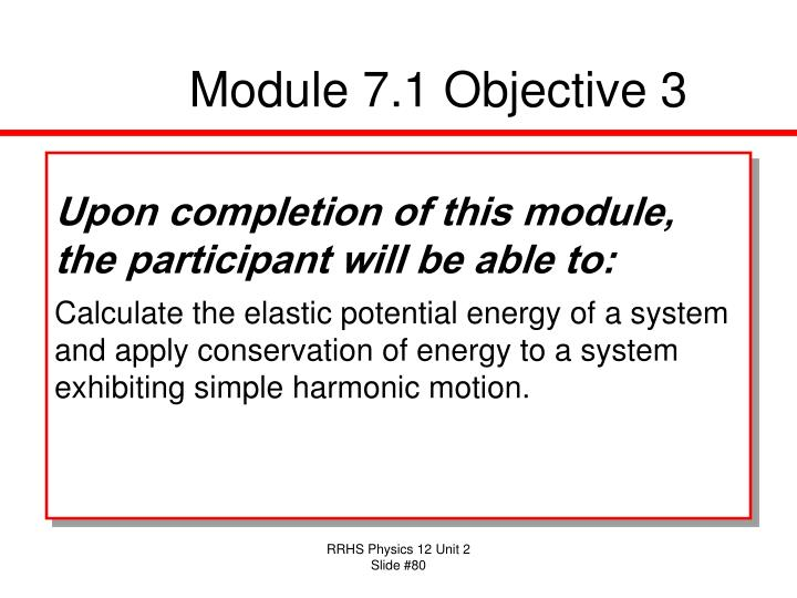 Module 7.1 Objective 3