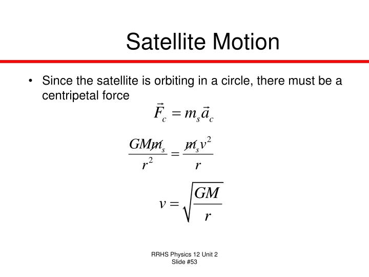 Satellite Motion