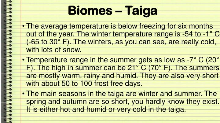 Biomes – Taiga