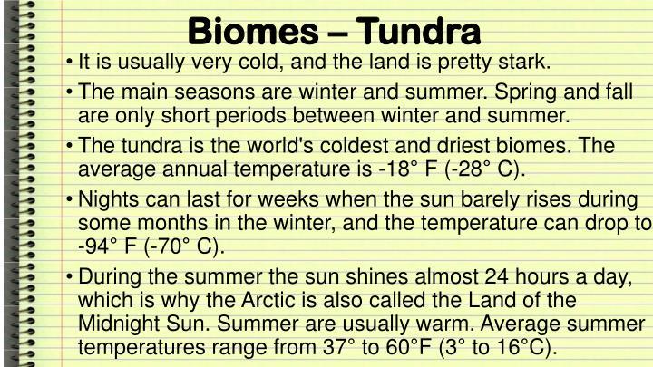 Biomes – Tundra