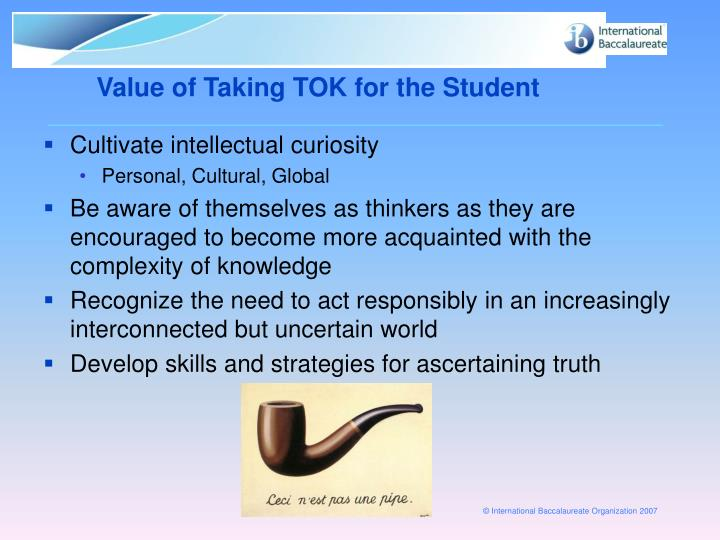 Value of Taking TOK for the Student