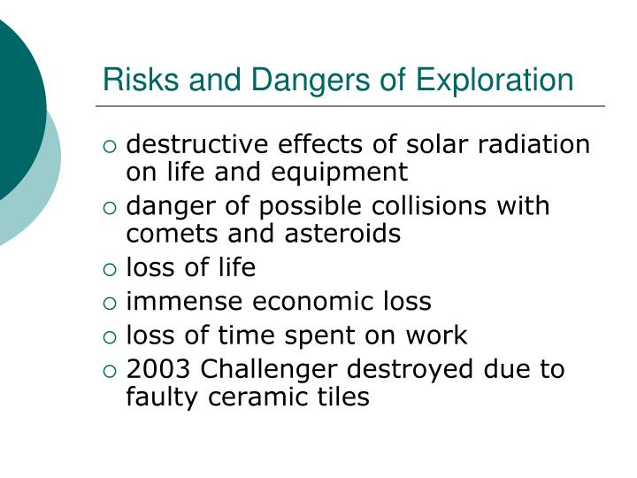 Risks and Dangers of Exploration