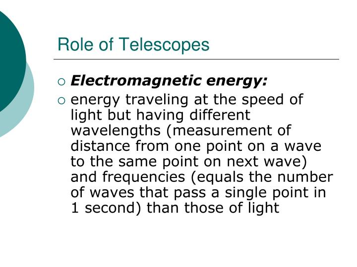 Role of Telescopes
